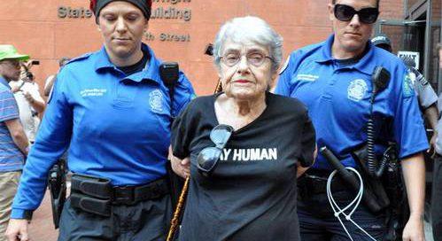 Hedy Epstein - Handcuffs