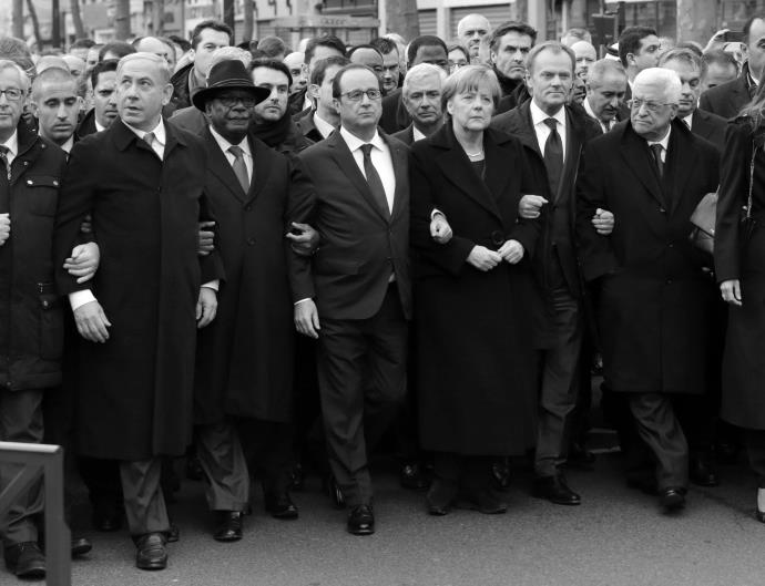 World Leaders show solidarity against terrorism